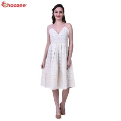 Glory Women Dress with Embroidery