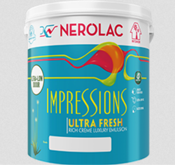 Nerolac Impression Ultra Fresh Paint, Packaging Type: Bucket