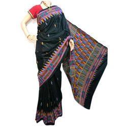 Ladies Bangalore Silk Kantha Saree, 6.3 m (with blouse piece)