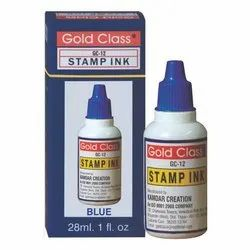 Gold Class 28 ml Blue Self Stamp Ink