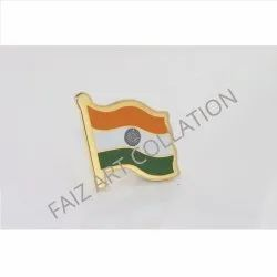 1027 India Flag Badge