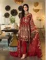 Maroon Pakistani Heavy Embroidery Suit