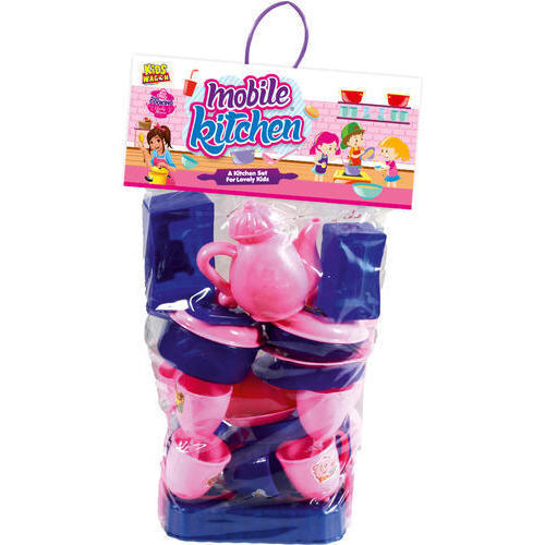 Ankit Toys Blue And Pink Private Kitchen Set Big Size Dimension