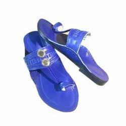 HUE Blue Ladies Kolhapuri Chappals