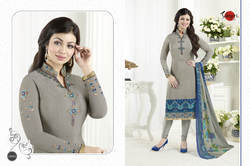 Crepe Silky Unstitched Salwar Suit Fabric
