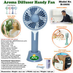 Imported Usb Aroma Diffuser Handy Fan H-2602, Size: Small
