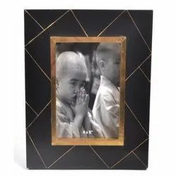 Royal Artisans Brass Inlay Photo Frame, 5x7'' inch