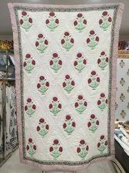 Mughal Flower Printed Quilts Razai