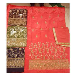 Ladies Embroidered Unstitched Suit Material