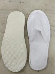 Men White Winter Slipper