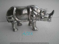Aluminium Rhino Sculpture