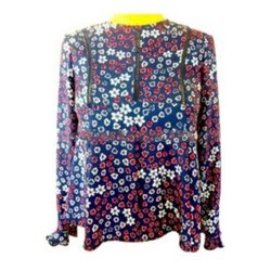 Ladies Floral Printed Lace Casual Wear Shirt