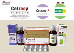 Cetirizine 5mg   Paracetamol 325mg   Phenylepherine10mg