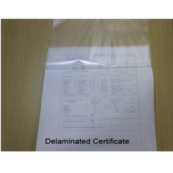 Lamination Removal From Certificates Or Documents