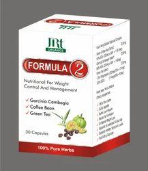 FORMULA 2 Ayurvedic weight loss capsules, Packaging Size: 30/60 Capsules, Packaging Type: Box