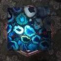 Backlit Blue Agate Tile