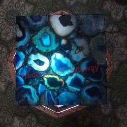 Backlit Blue Agate Tile
