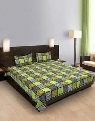Square Design Cotton Bedsheet