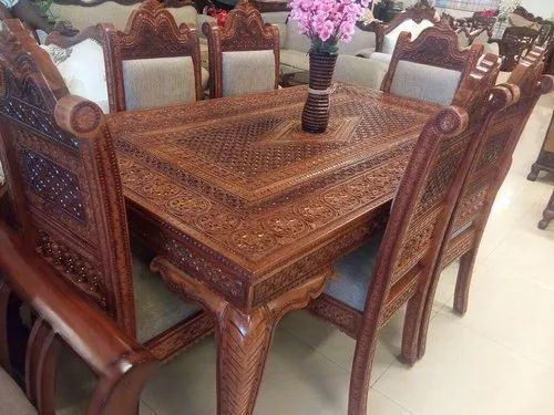 Antique Dining Table Set At Rs 180000, Antique Dining Room Table
