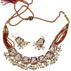 Jodhpuri Lacquer Necklace Set 113