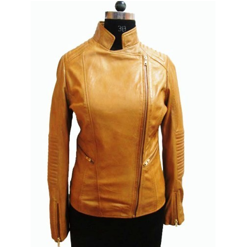 Girls Collared Leather Jacket