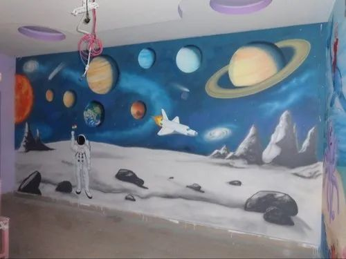Play School Wall Paintings Cartoon Wall Paintings Manufacturer
