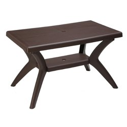 Brown Avro Magna Double Top Plastic Dining Table, Weight: 8 Kg