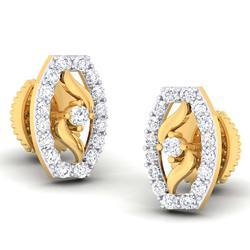 Fancy Gold  Diamond Earrings