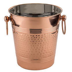 Fez Decor Copper Hammered Wine Cooler Ice Bucket