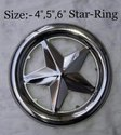 Stainless Steel Star Ring Gate Accessories, Size: 4 Inch