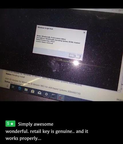 Windows 10 home/Pro Genuine Lifetime Retail Key  at Rs 899 /piece