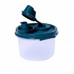 Signoraware Plastic Mini Easy Flow Container, Capacity: 200 Ml, Round