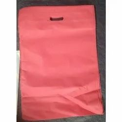 Plain Red Non Woven D Cut Carry Bag, Capacity: 2-4 Kg, Thickness: 2 To 3 Mm