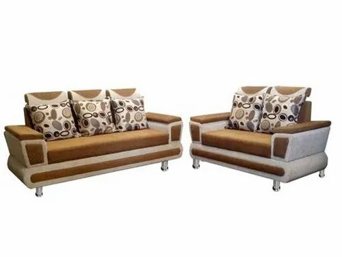 Super Enterprises Brown 5 Seater Wooden Sofa Set, Size/Dimension: 5+7 Feet, for Home