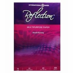 White A/4 Reflection Paper 70 GSM, Packing Size: 500 Sheets Per Pack