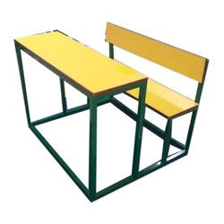Green & Yellow Deneb Wooden School Desk