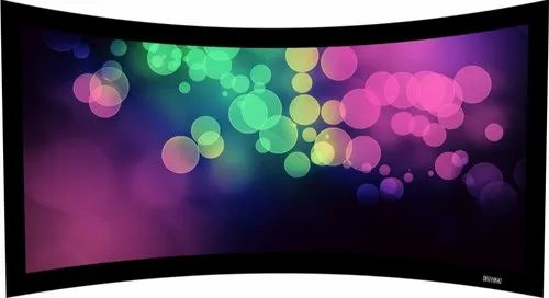 Suvira Curved Fixed Frame Projector Screen 92 Inch Diagonal 169 HDTV Fabric