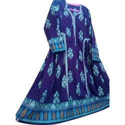 M And XL Casual Wear, Formal Wear Cotton Printed Long Kurti