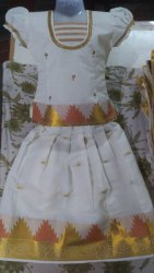 Silk Kerala Pattu Pavadai, Size: 20-30