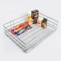 Silver Stainless Steel Plain Basket, For Hotel/restaurant, Circular
