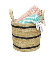 Decorative Braided Storage Bins and Basket Laundry Basket