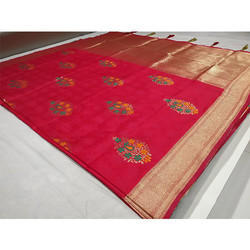 Red Banarasi Saree