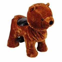 Brown Plush Fabric Walking Animal Kiddie Ride, For Malls,Fair etc, Capacity: Single Seater