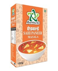 AIDWORLD Sahi Paneer Masala, Packaging Size: 100g