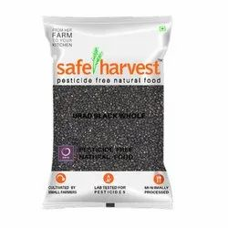 Safe Harvest Black Whole Urad Dal, Packaging Size: 500 g, Packaging Type: Packets
