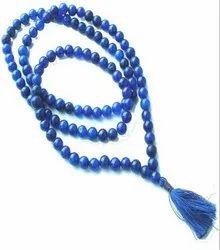 Blue Topaz Mala Bead