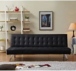 Stainless Steel Cardiff Black Sofa, for Home