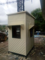 FRP Security Cabin with Flat Roof