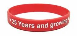 Red Silicone Printed Wristbands, Packaging Type: Packet
