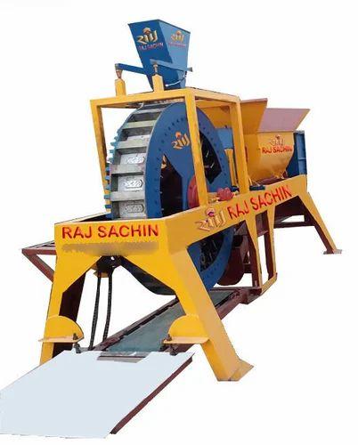 Single Die Rotary Type Brick Machine